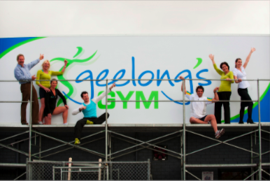 Geelong's Gym Puts Up New Sign!