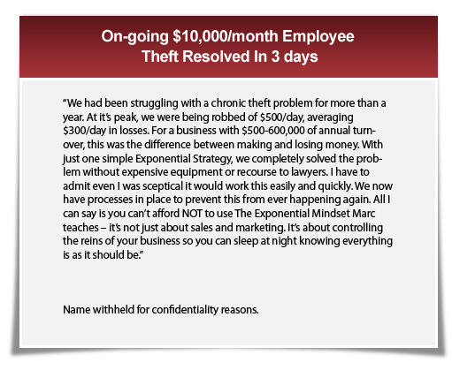 On-going $10,000/month Employee Theft